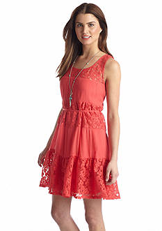 As U  Wish Lace Insert Tank Dress