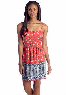 As U  Wish Bandana Border Print Dress