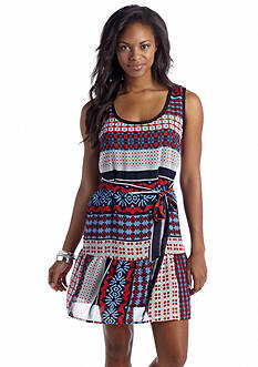 As U  Wish Printed Drop Waist Dress