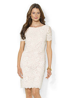 Lauren Ralph Lauren Boatneck Lace Dress