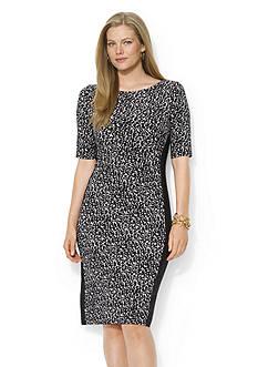 Lauren Ralph Lauren Spotted Ruched Dress