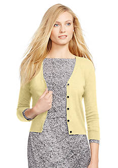 Lauren Ralph Lauren Cotton V-Neck Cardigan