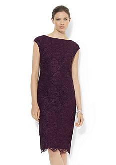 Lauren Ralph Lauren Lace Boat-neck Dress