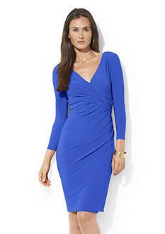 Lauren Ralph Lauren Jersey Side-Draped Dress