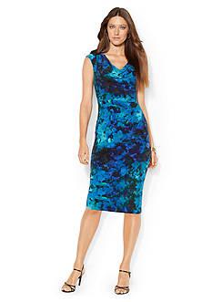 Lauren Ralph Lauren Matte Jersey Cowl-neck Dress