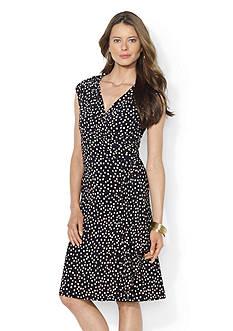 Lauren Ralph Lauren Polka-Dot Jersey Dress