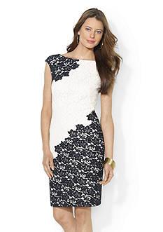 Lauren Ralph Lauren Two Toned Lace Dress