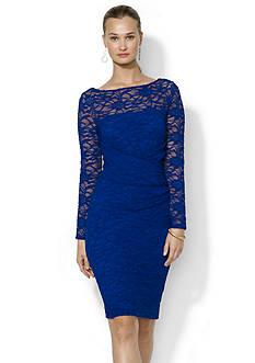 Lauren Ralph Lauren Long-Sleeved Stretch-Lace Dress