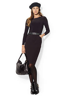 Lauren Ralph Lauren Long-Sleeved Banded Dress