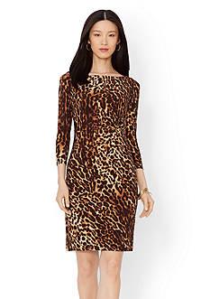Lauren Ralph Lauren Leopard-Print Jersey Dress