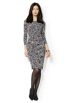 Lauren Ralph Lauren Zebra Print Jersey Dress