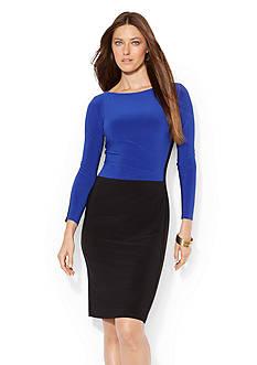 Lauren Ralph Lauren Two-Toned Jersey Dress