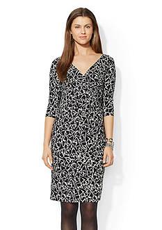 Lauren Ralph Lauren Printed Jersey Dress