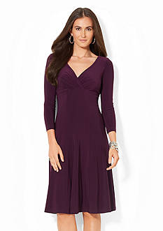 Lauren Ralph Lauren Jersey Surplice Dress