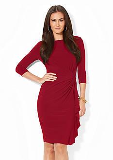 Lauren Ralph Lauren Matte Jersey Ruffled Dress