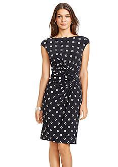 Lauren Ralph Lauren Printed Jersey Knot Dress<br>