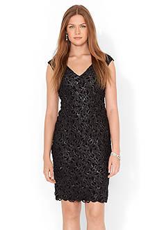 Lauren Ralph Lauren Floral-Lace V-Neck Dress