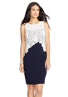 Lauren Ralph Lauren Lace Crepe Dress