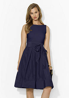 Lauren Ralph Lauren Jersey-and-Taffeta Dress
