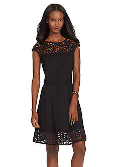 Lauren Ralph Lauren Cutout Combo Dress