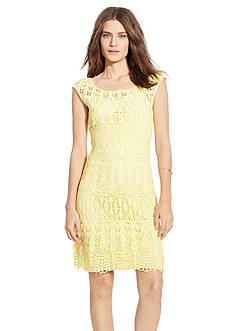Lauren Ralph Lauren Crocheted Cotton Dress