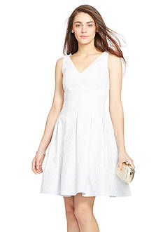 Lauren Ralph Lauren V-Neck Jacquard Dress