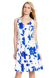 Lauren Ralph Lauren V-Neck Floral Dress