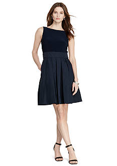Lauren Ralph Lauren Jersey Taffeta Dress