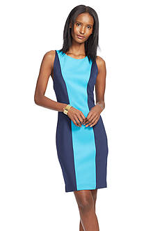 Lauren Ralph Lauren Colorblock Sleeveless Dress
