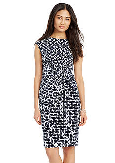 Lauren Ralph Lauren Jersey Knot Dress