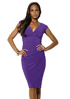 Lauren Ralph Lauren Matte Jersey Empire-Waist Dress
