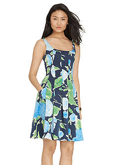 Lauren Ralph Lauren Floral-Print Faille Dress