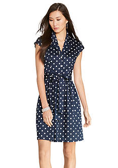 Lauren Ralph Lauren Polka-Dot Sateen Dress