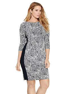 Lauren Ralph Lauren Chevron-Print Sheath Dress