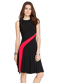 Lauren Ralph Lauren Fit-and-Flare Jersey Dress