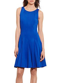 Lauren Ralph Lauren Fit-and-Flare Neoprene Dress