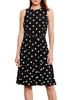 Lauren Ralph Lauren Polka-Dot Jersey Dress