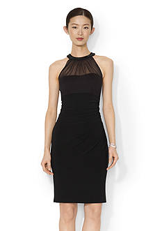 Lauren Ralph Lauren Beaded Jersey Dress
