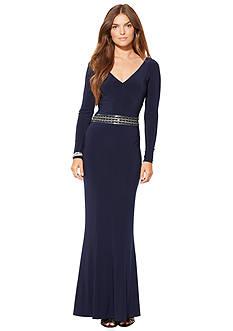 Lauren Ralph Lauren Embellished Waist Gown