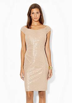 Lauren Ralph Lauren Sequined Mesh Dress