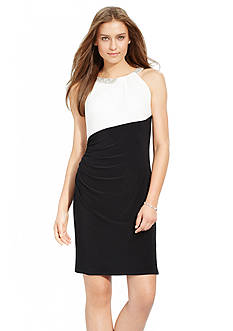 Lauren Ralph Lauren Embellished Sleeveless Dress