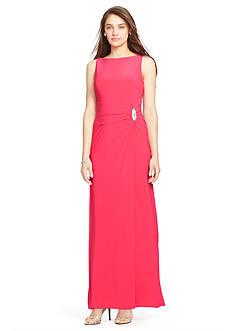 Lauren Ralph Lauren Faux-Wrap Jersey Gown
