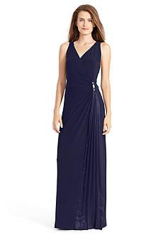Lauren Ralph Lauren Jersey Combo Gown
