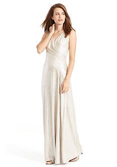 Lauren Ralph Lauren Metallic Jersey Gown