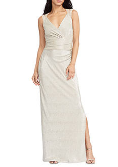 Lauren Ralph Lauren Metallic Cutout Gown
