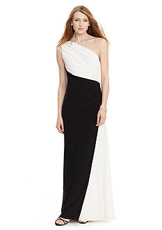 Lauren Ralph Lauren Two-Toned Jersey Gown