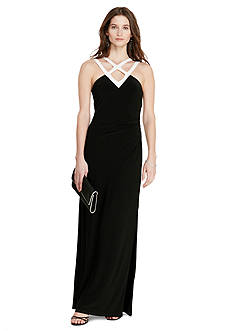 Lauren Ralph Lauren Two-Toned Gown-Amissa