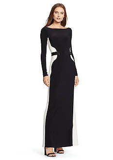 Lauren Ralph Lauren Embellished Two-Toned Gown