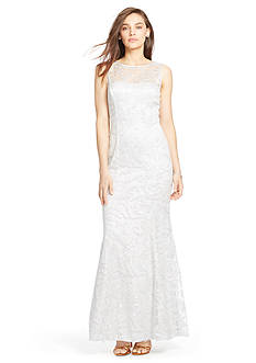 Lauren Ralph Lauren Sequined-Mesh Gown