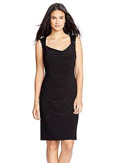 Lauren Ralph Lauren Beaded Jersey Dress
